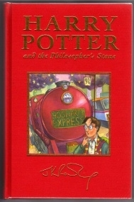 Harry Potter and the Philosophers Stone UK Deluxe First Edition.